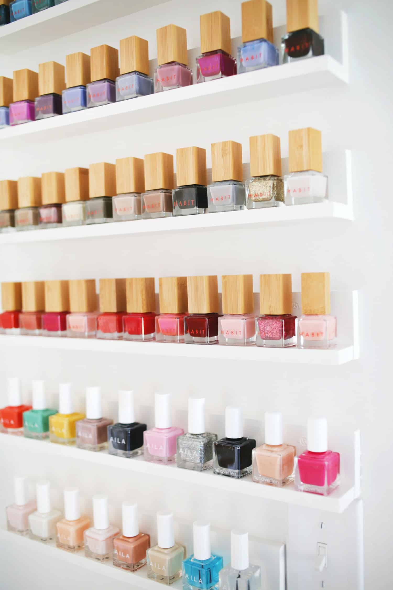 Diy Nail Desk Easy Custom Nail Polish Shelves A Beautiful Mess