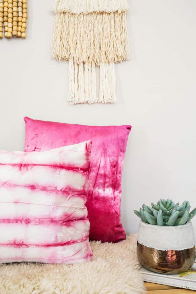 Dyed Velvet Pillow DIY - A Beautiful Mess