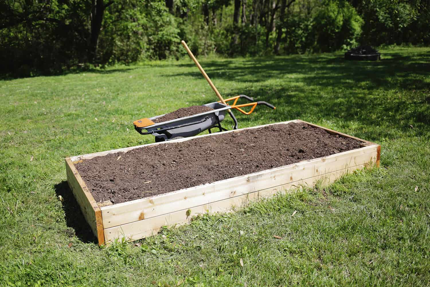 Instructions For Making Raised Garden Beds Make Your Own Raised Garden Bed In 4 Easy Steps Obsigen