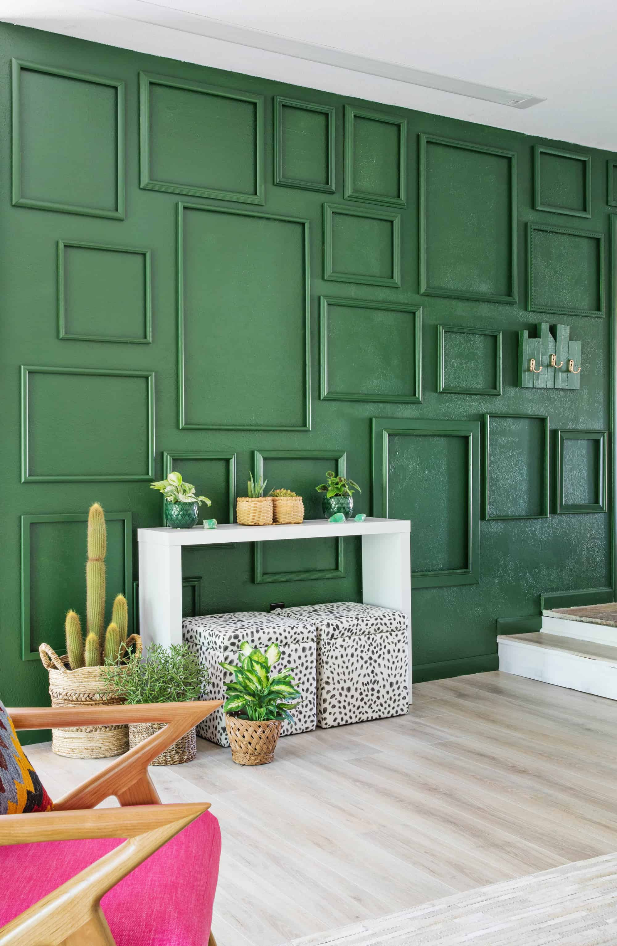 Teal Living Room Accent Wall