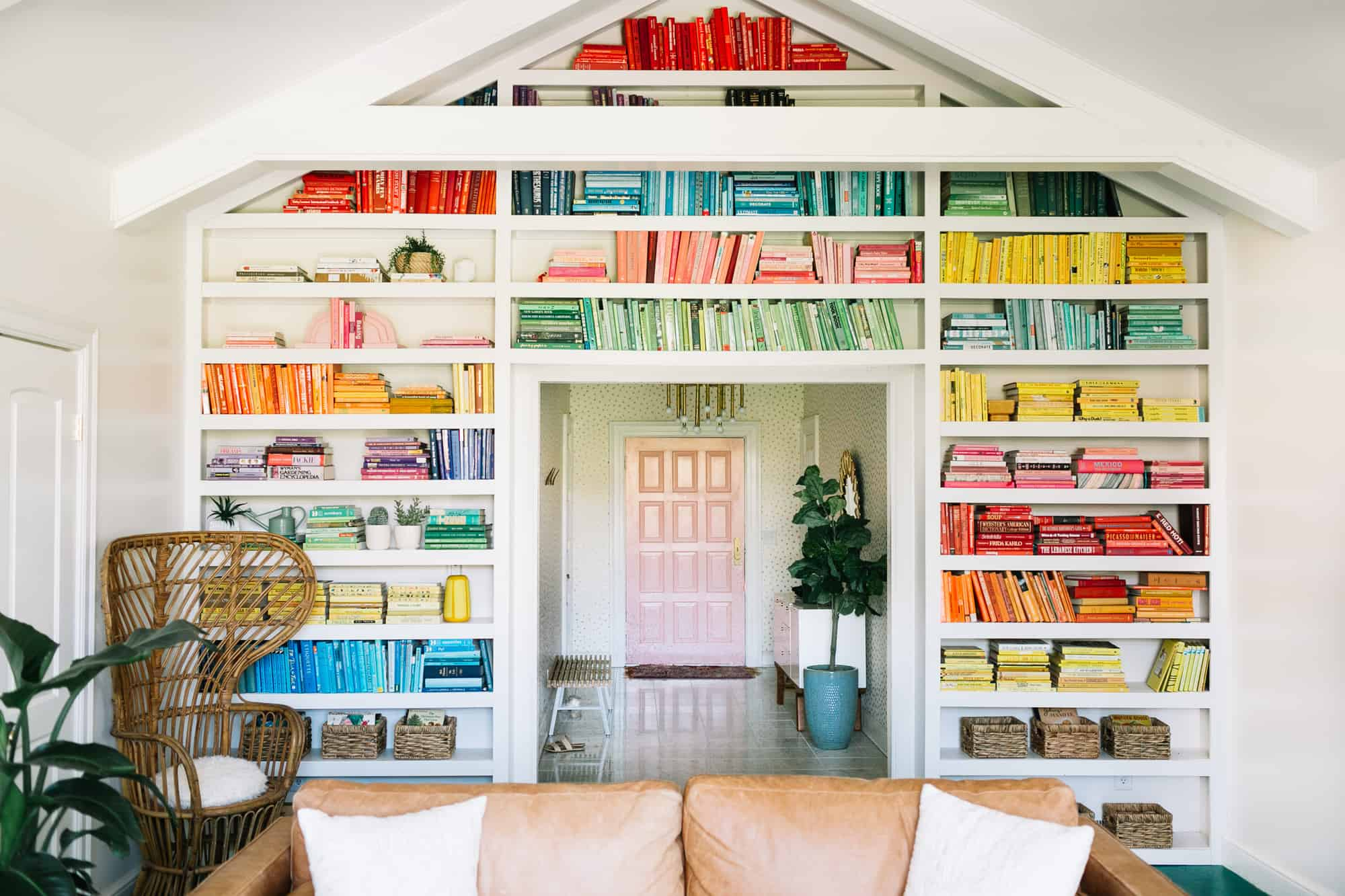 Elsie S Rainbow Bookshelves A Beautiful Mess