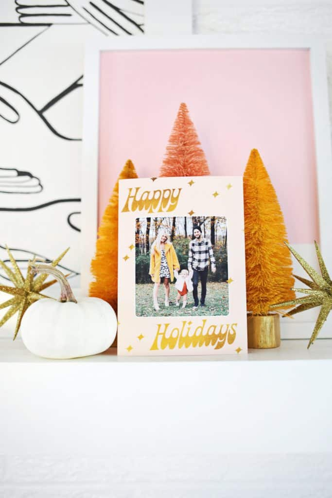 Print Your Own Holiday Cards (Free Template Included!) - A Beautiful