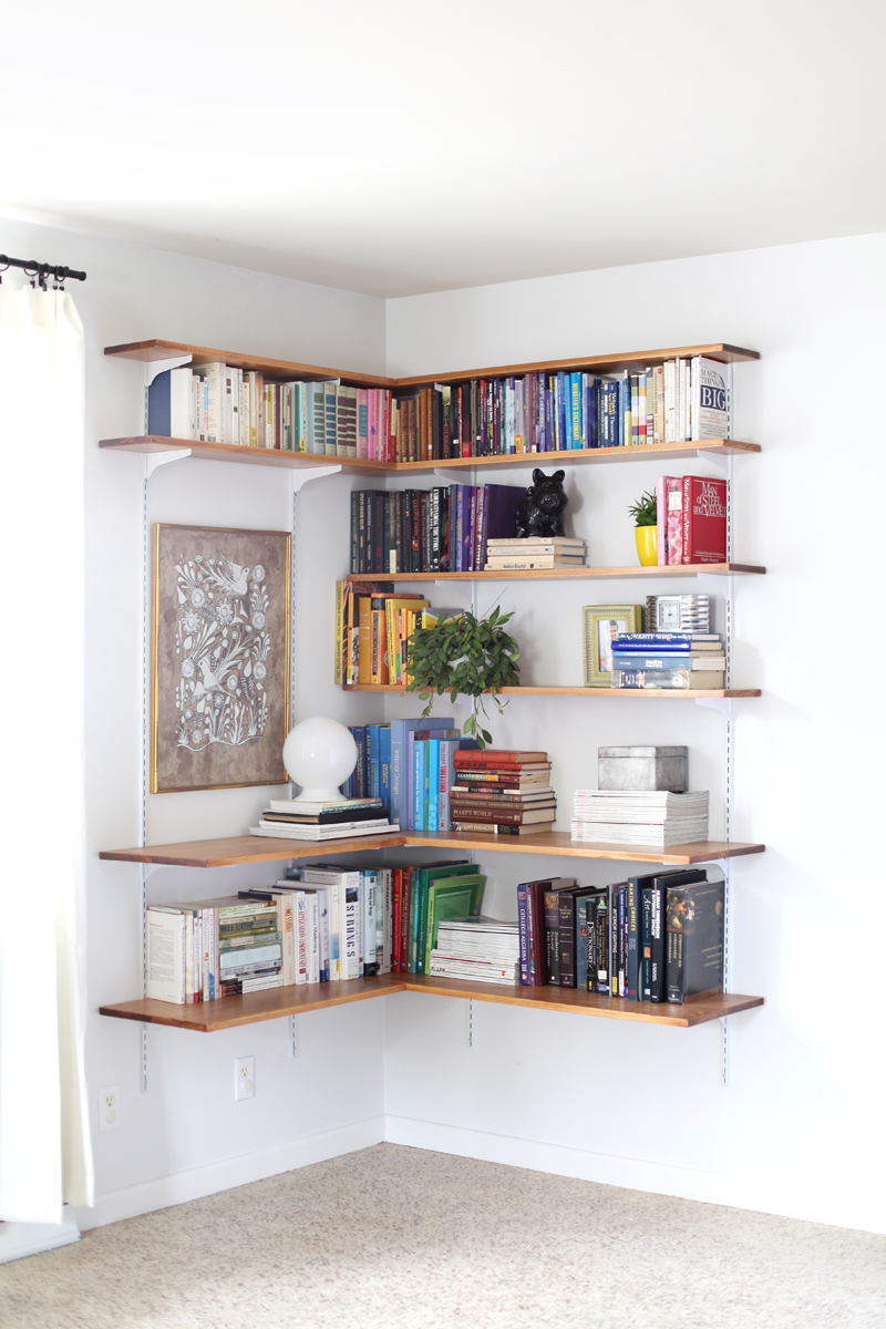 Build Organize A Corner Shelving System A Beautiful Mess