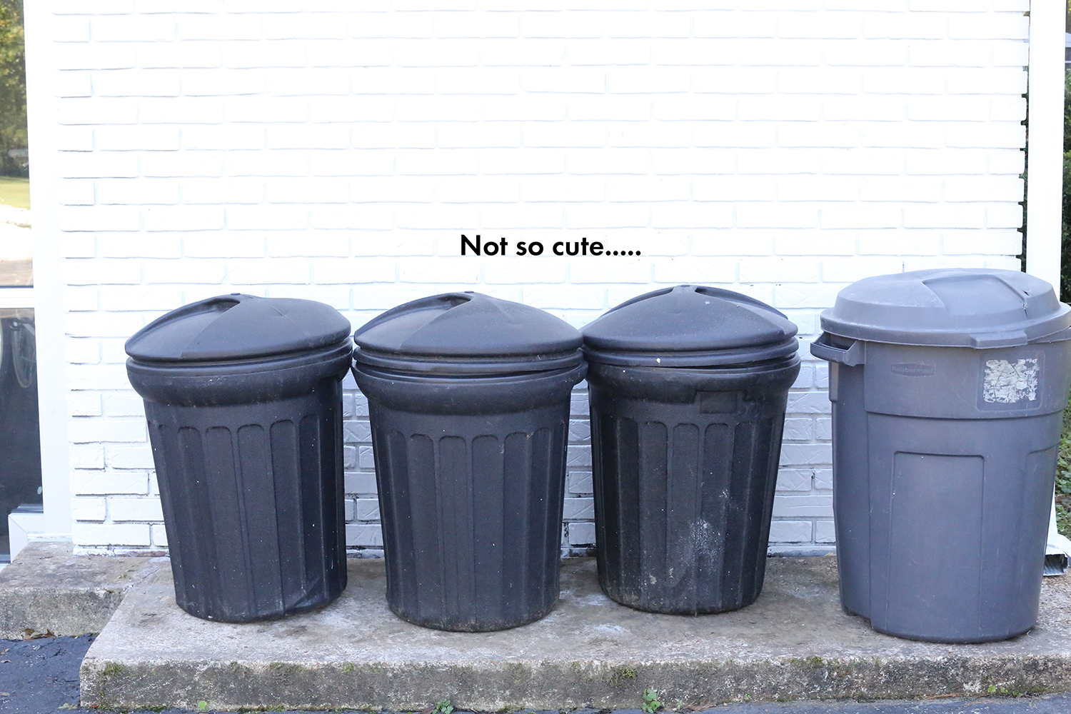 Attractive Trash Cans Try This A Modern Solution For Hiding Your Trash Can A