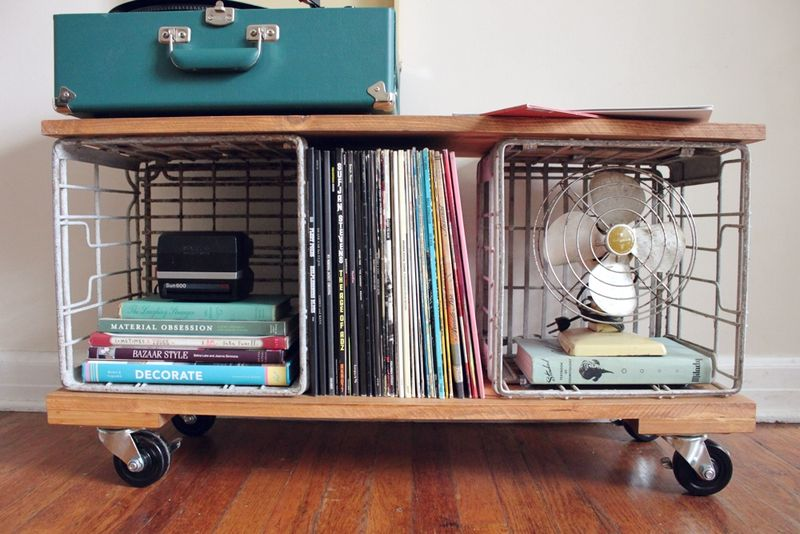 Diy Industrial Record Cabinet A Beautiful Mess