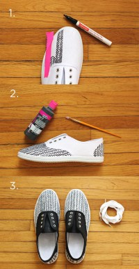 DIY Sneakers for Spring - A Beautiful Mess