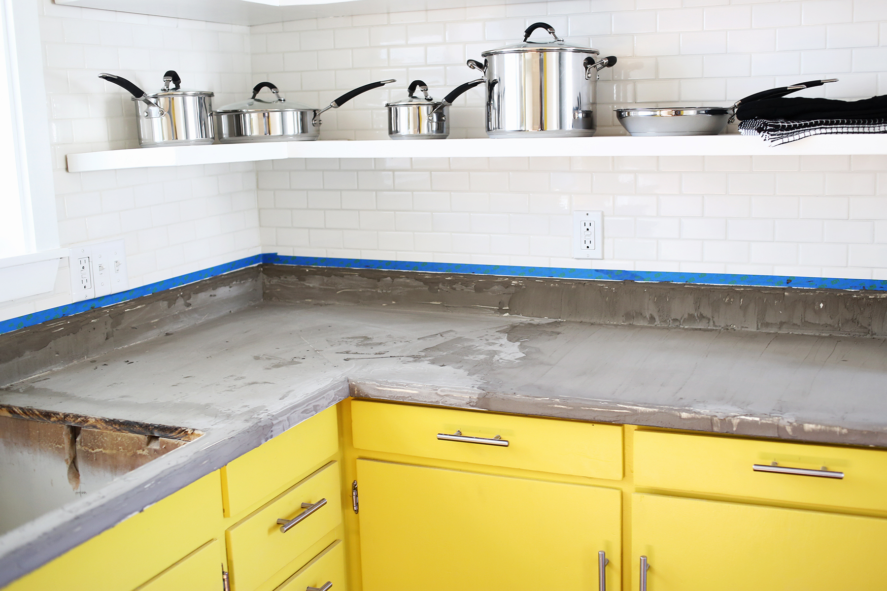 What Kind Of Concrete To Use For Countertops Concrete Countertop Diy A Beautiful Mess