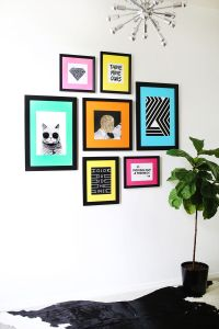 Colored Mat Gallery Wall Idea  A Beautiful Mess