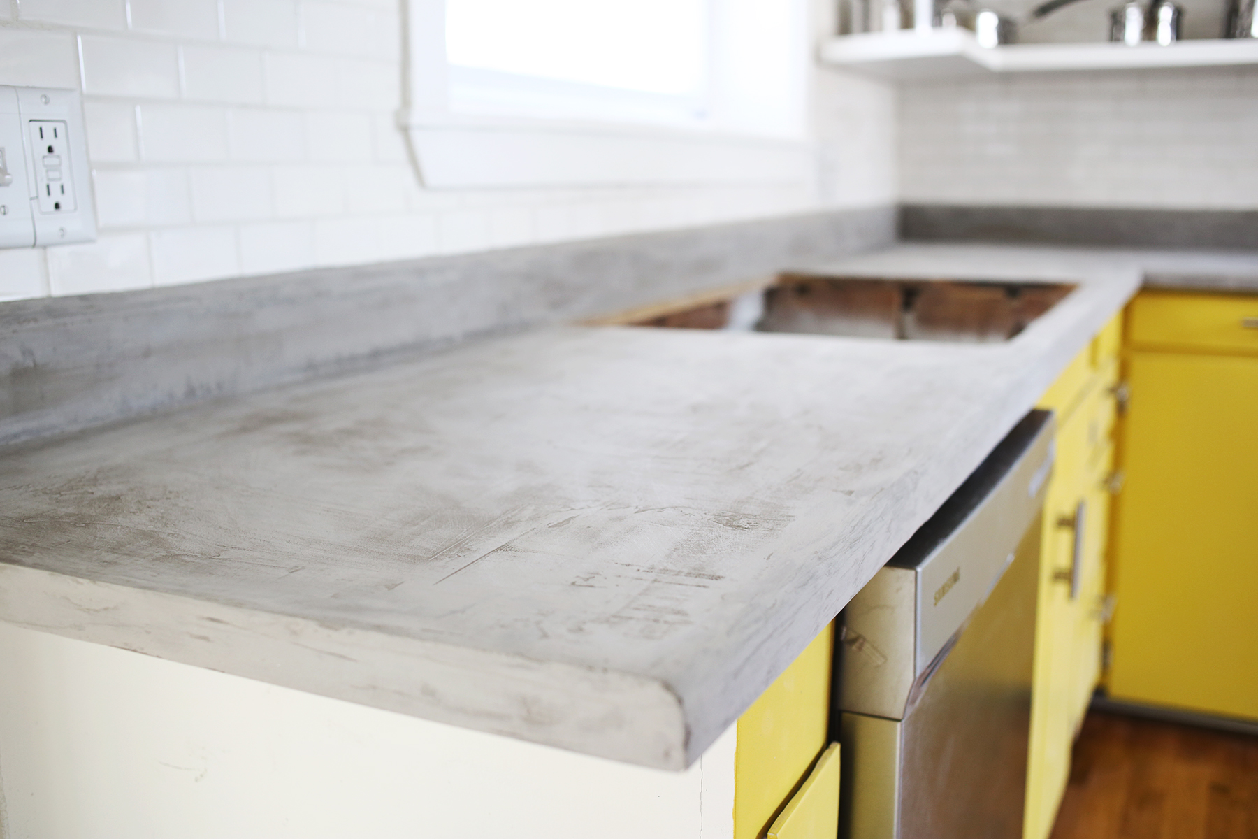 How Much Is Concrete Countertops Concrete Countertop Diy A Beautiful Mess