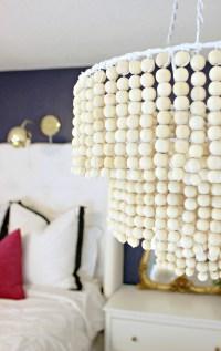 DIY Wooden Bead Chandelier - A Beautiful Mess