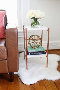 Copper Pipe Side Table DIY - A Beautiful Mess