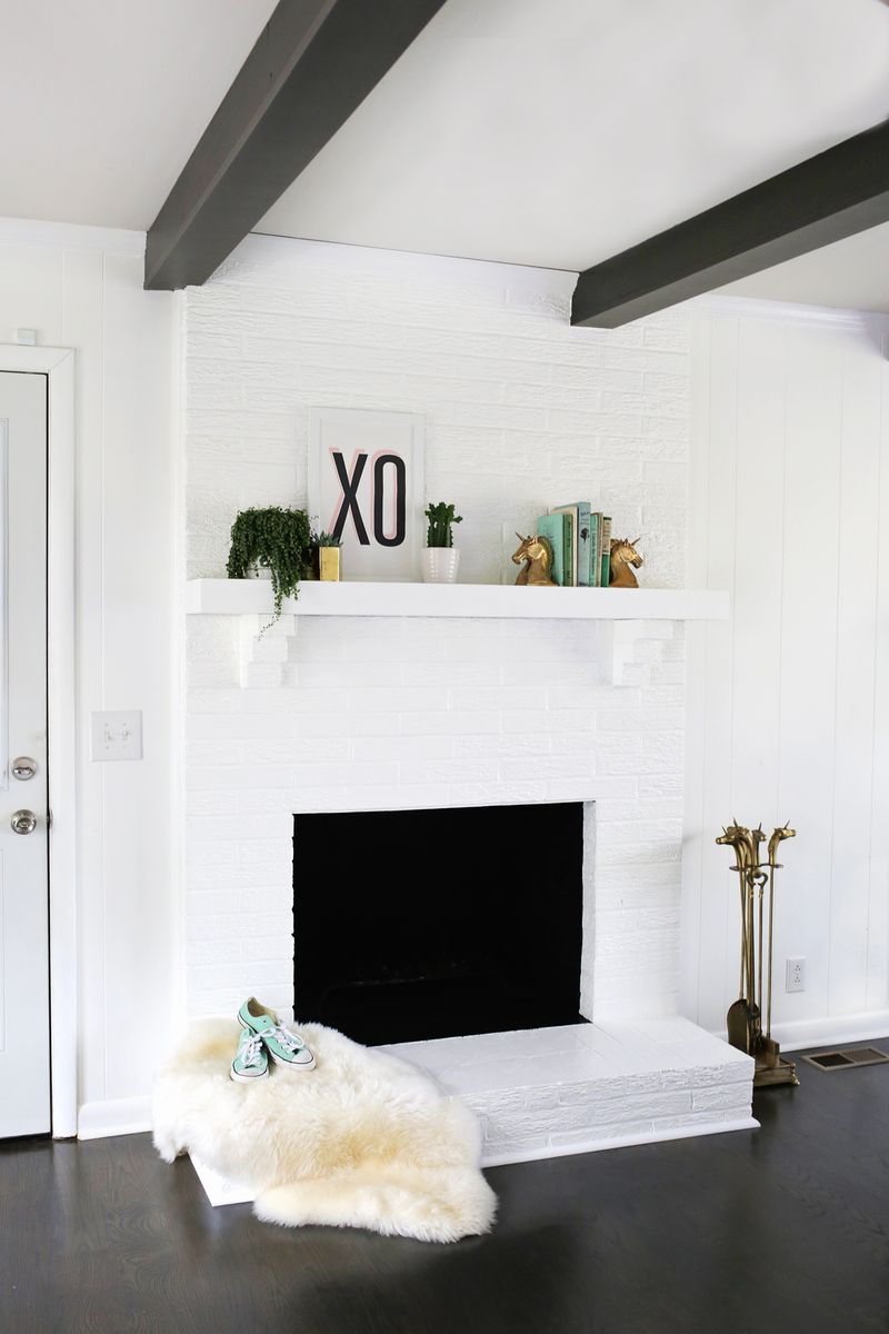 Fireplaces With Stone Surrounding How To Paint Brick And Stone A Beautiful Mess