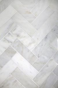 Try This: Herringbone Marble Tile | A Beautiful Mess ...