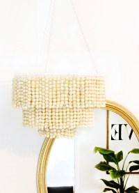 DIY Wooden Bead Chandelier