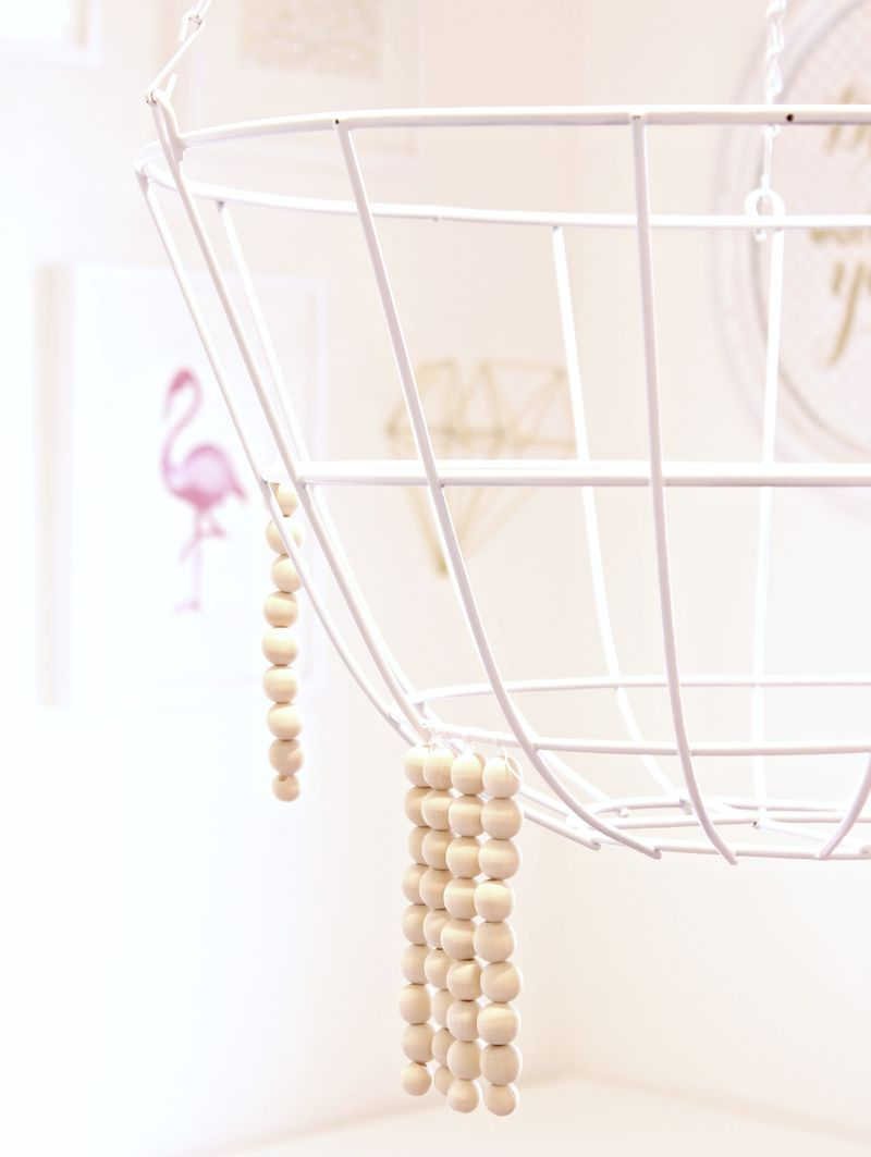 DIY Wooden Bead Chandelier