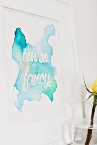 Watercolor Phrase Art DIY - A Beautiful Mess