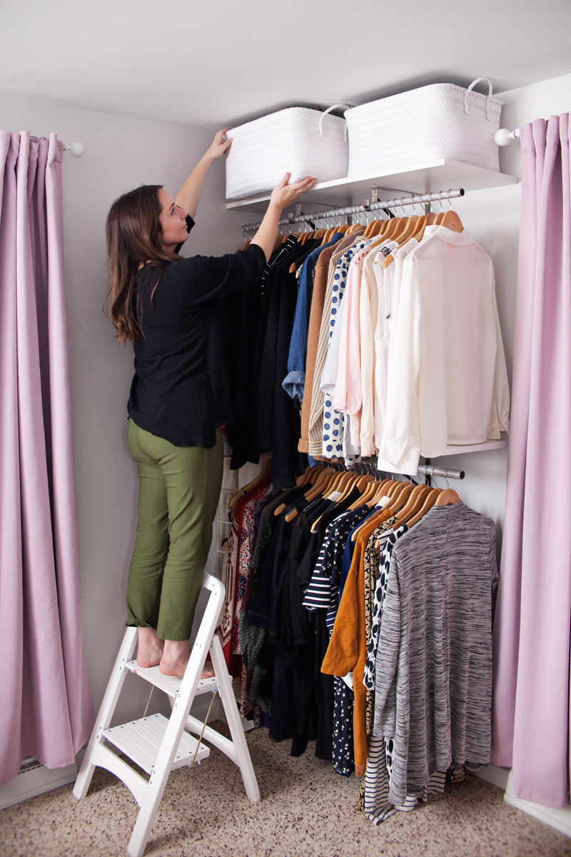 Space Saving Wardrobe Ideas Creating An Open Closet System A Beautiful Mess