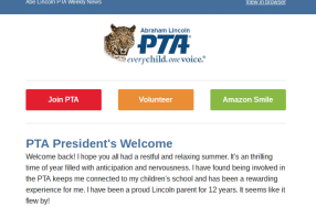 Welcome to the Newsletter New Lincoln Families!