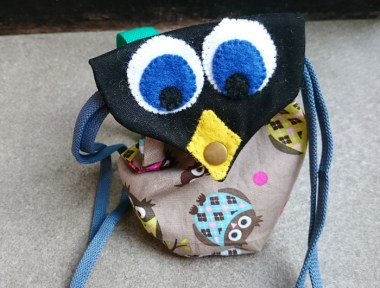An owl backpack for Jules