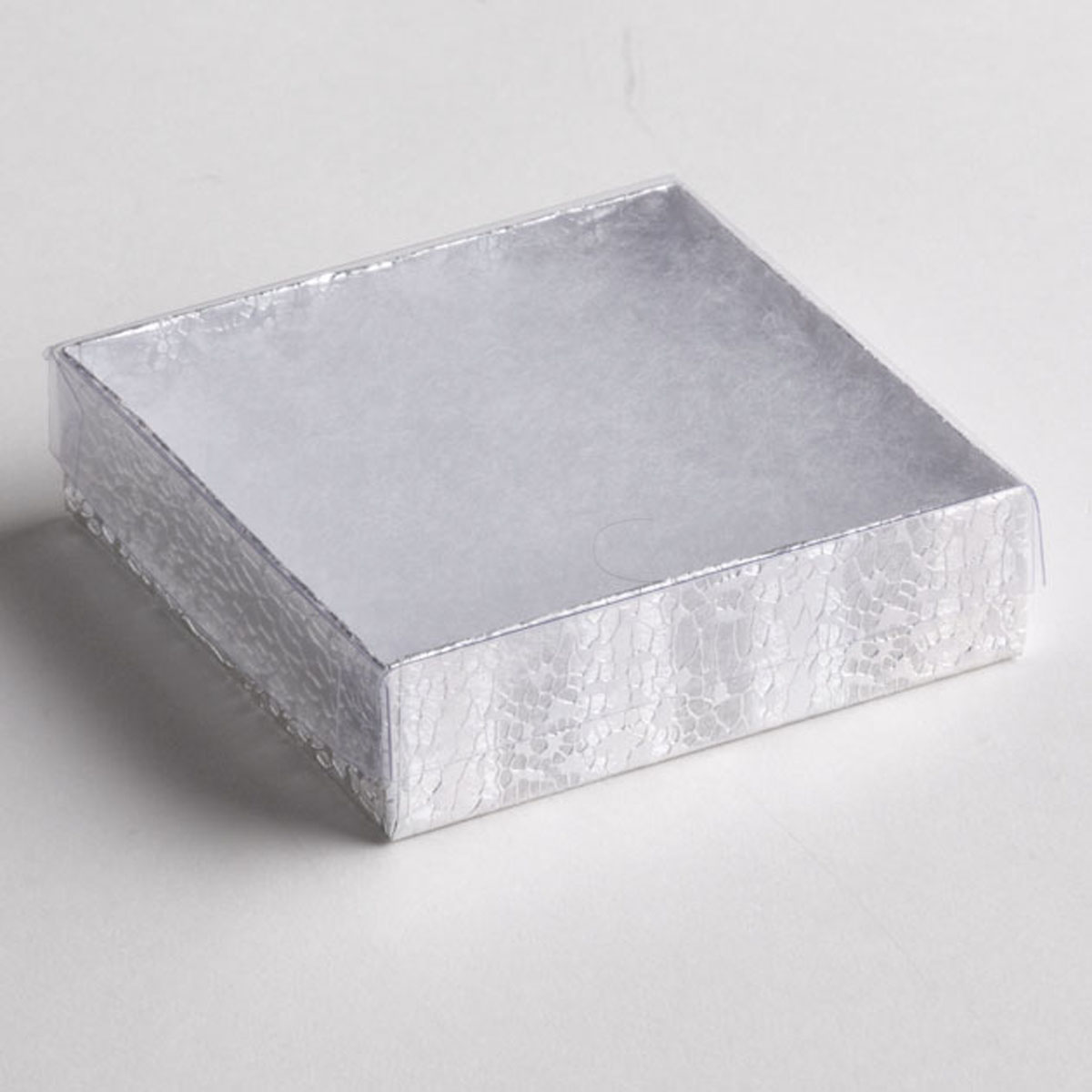Clear Box Clear Top Silver Square Boxes 100 Pcs A Andb Store Fixtures