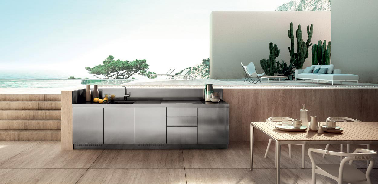 Bespoke stainless steel kitchens by Abimis for any location