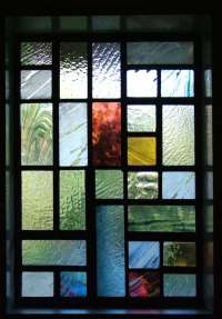 Contemporary Front Door - Abinger Stained Glass
