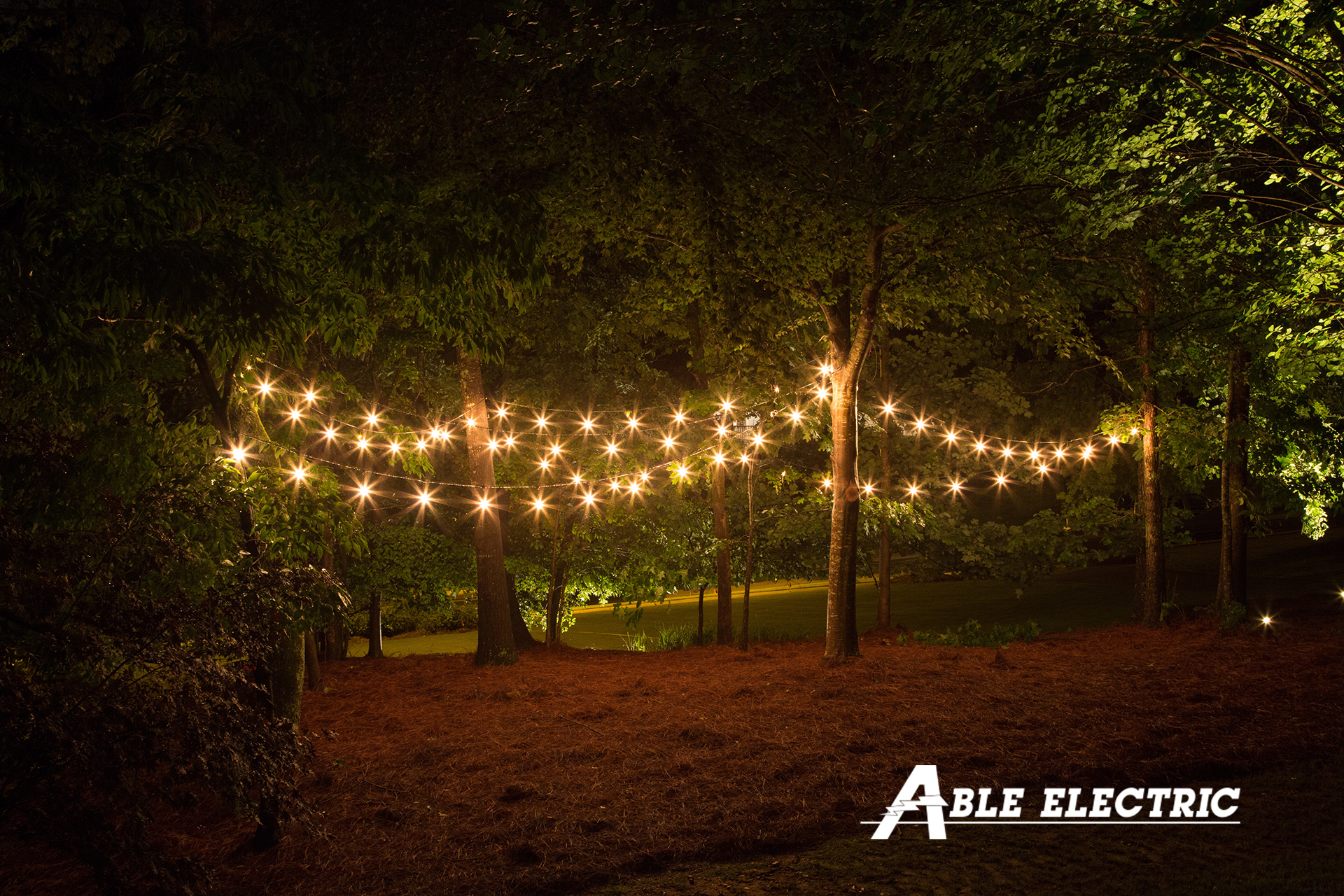 Led String Lighting Outdoor Outdoor String Lights Can Add Beauty - Able Electric