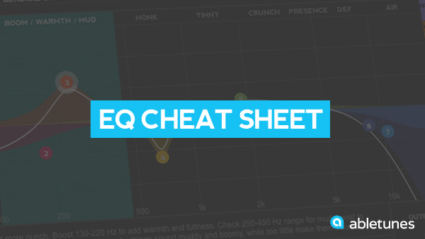 EQ Cheat Sheet for Over 20+ Instruments  Abletunes Blog