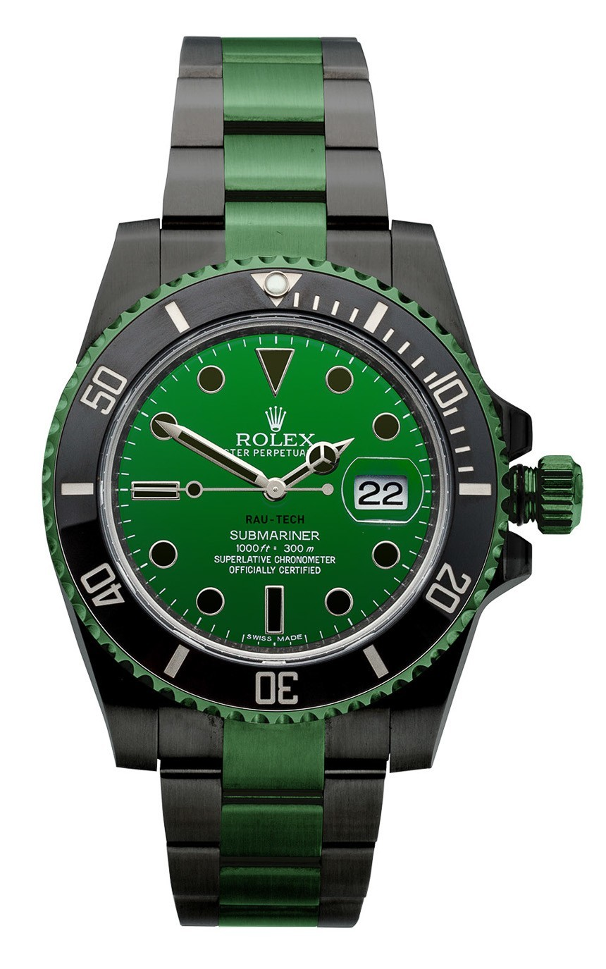 Rolexs Watches Rau Tech Custom Rolex And Other Watches Colorful Coatings