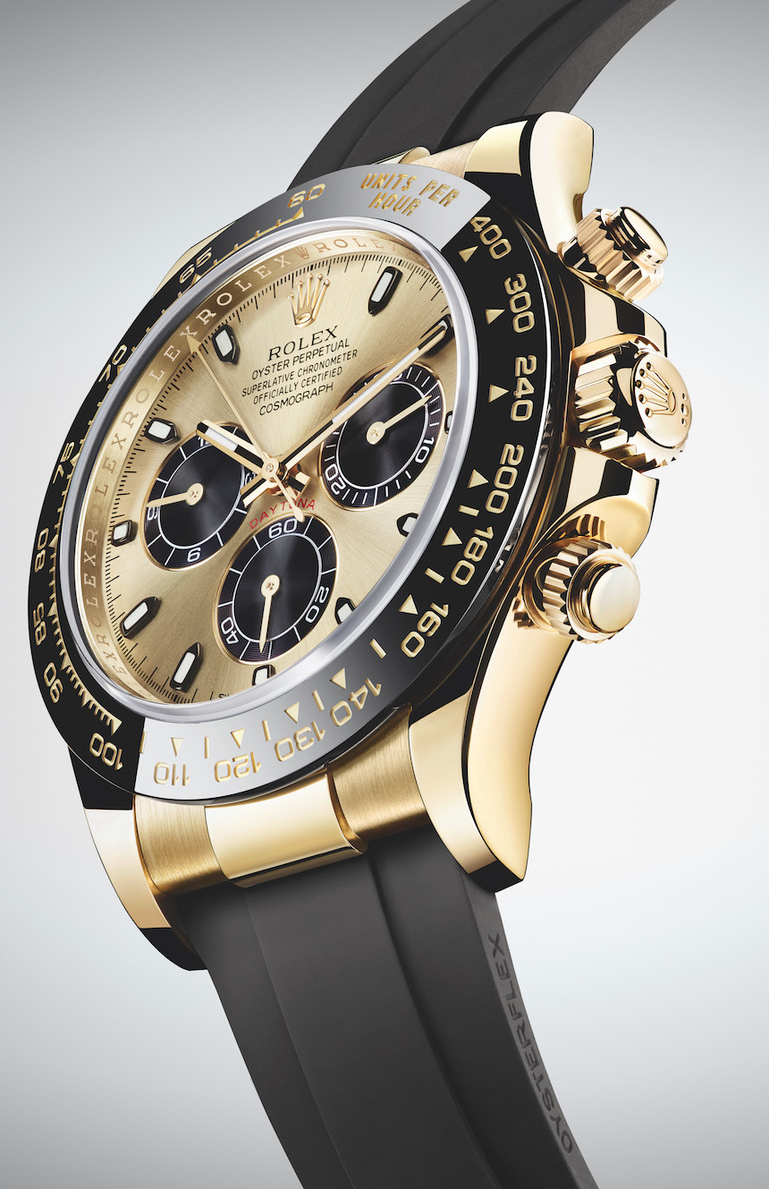 Rolex Rubber New Rolex Cosmograph Daytona Watches In Gold With Oysterflex