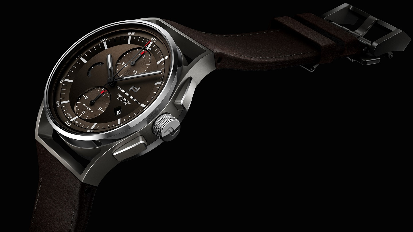 Porsche Design Küchenwaage Porsche Design 1919 Chronotimer Flyback 'brown & Leather