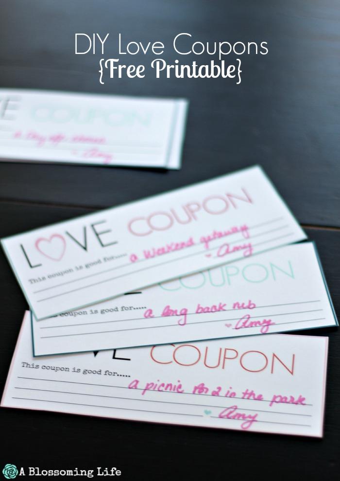 DIY Love Coupons {Free Printable} - A Blossoming Life - diy printable coupons