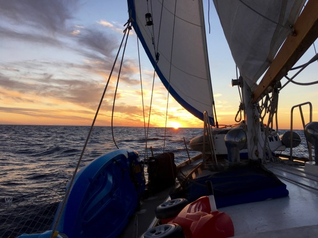 A beautiful sunset as we cruised across the Sea of Cortez