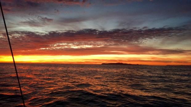 Sunrise on the approach to Santa Rosalía