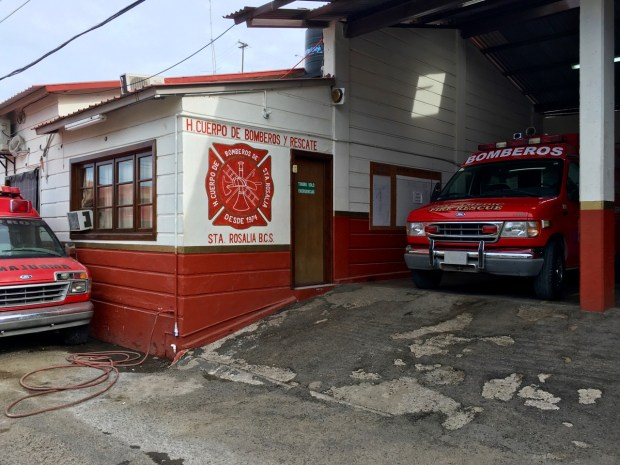 The local fire department and ambulance