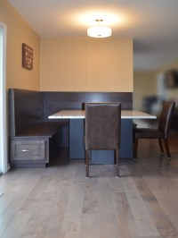 Modern breakfast nook and table base | Abodeacious