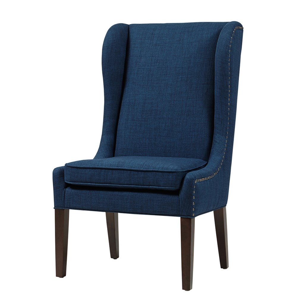 Southwestern Accent Chairs Harlow Captains Dining Chair - Navy | Upholstered - Wood