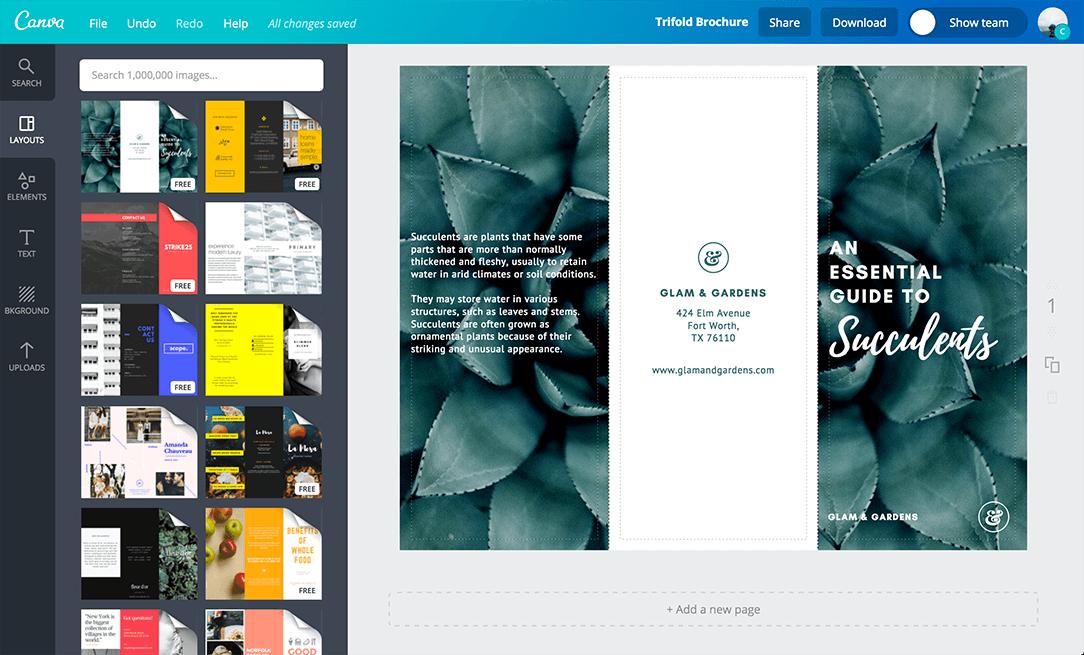 free create a brochure