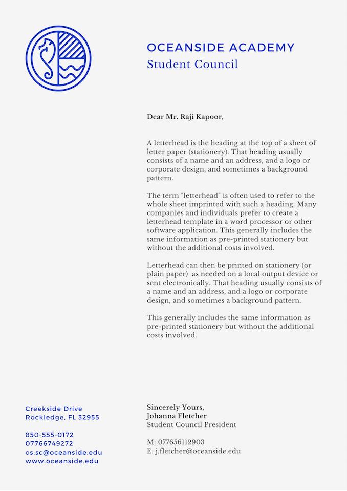 make a letterhead online