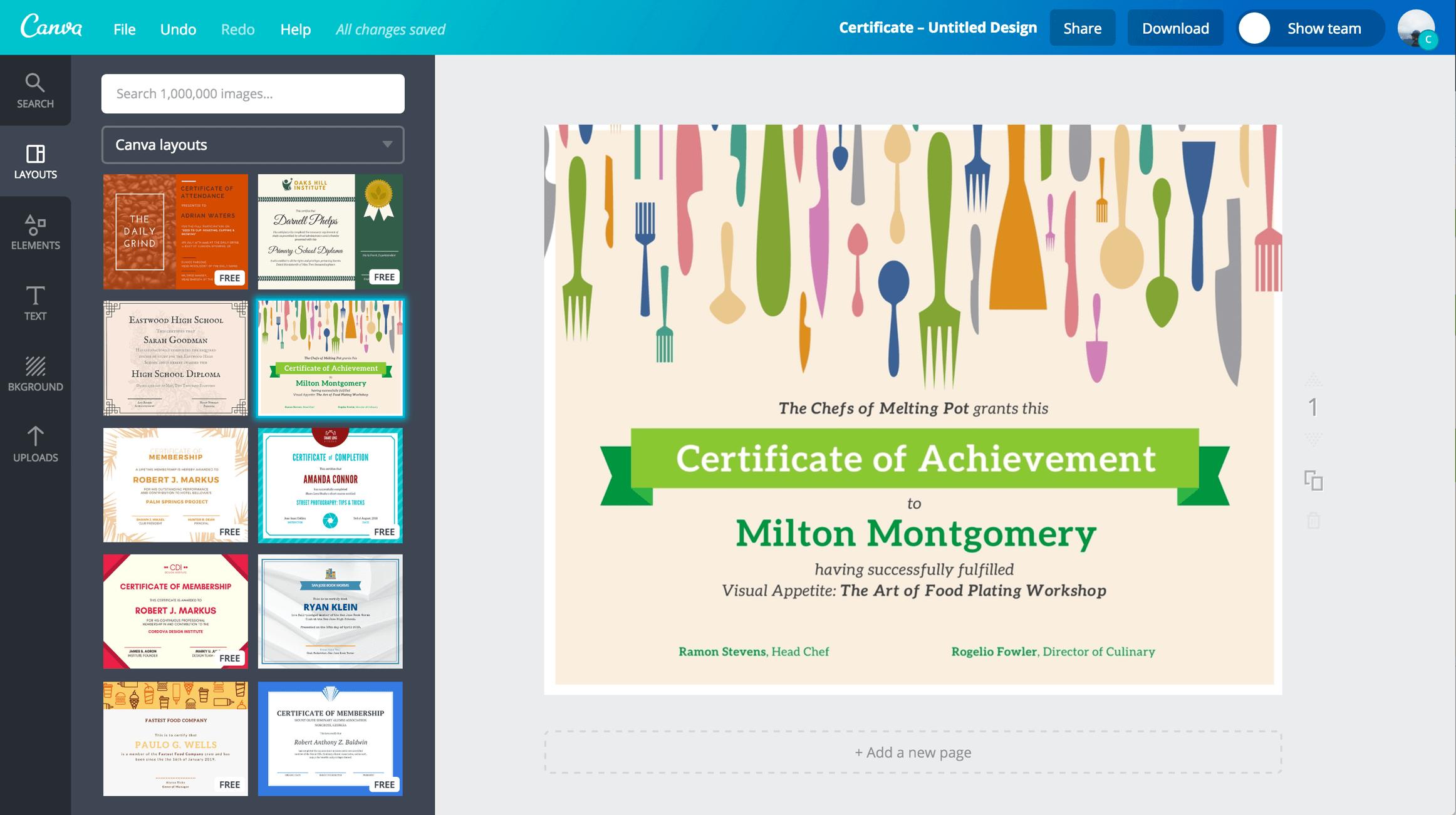 online certificate maker free