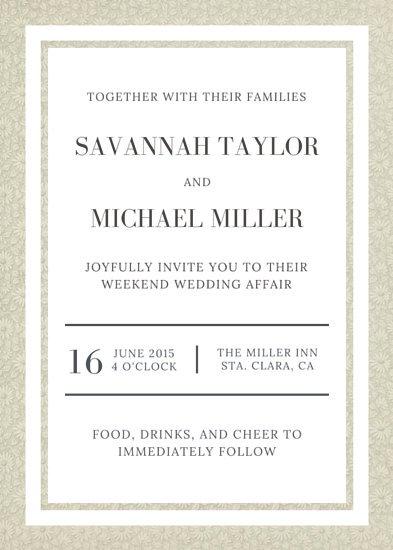Plantillas para invitaciones de boda editables gratis - Canva