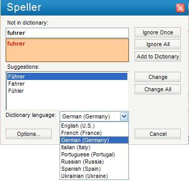 Spellchecker ImTranslator - spanish speller