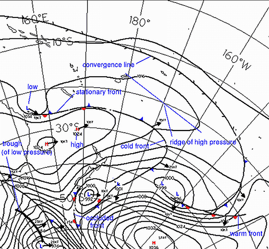 How to Read Weather Maps » About MetService