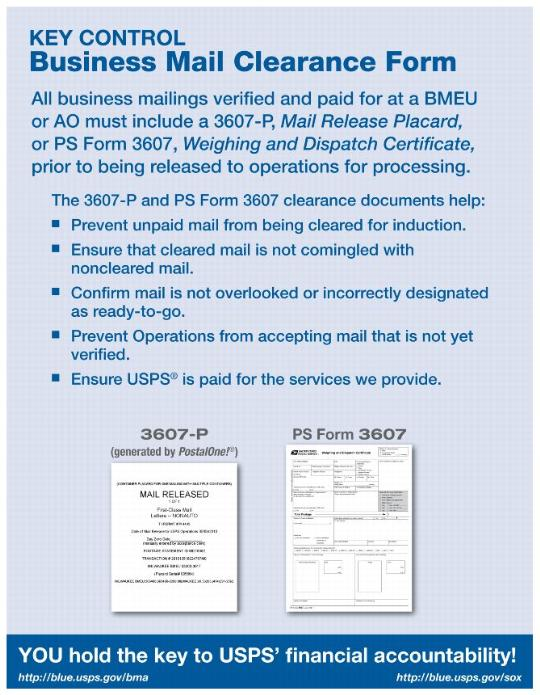 Business Mail Clearance Form - key release form