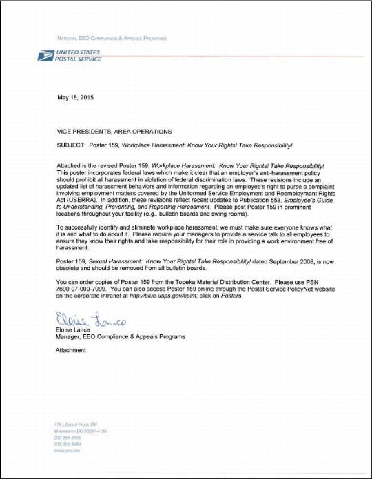 application cover letter usps