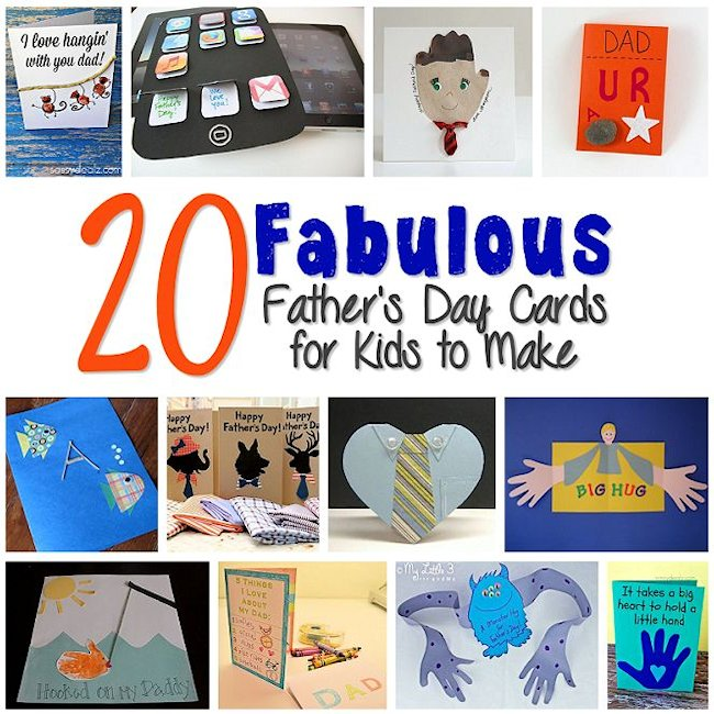 20 Father\u0027s Day Cards for Kids to Make \u2013 About Family Crafts - father day cards