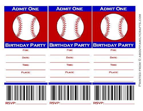 Baseball Ticket Invitation Template Free u2013 orderecigsjuiceinfo - free ticket templates