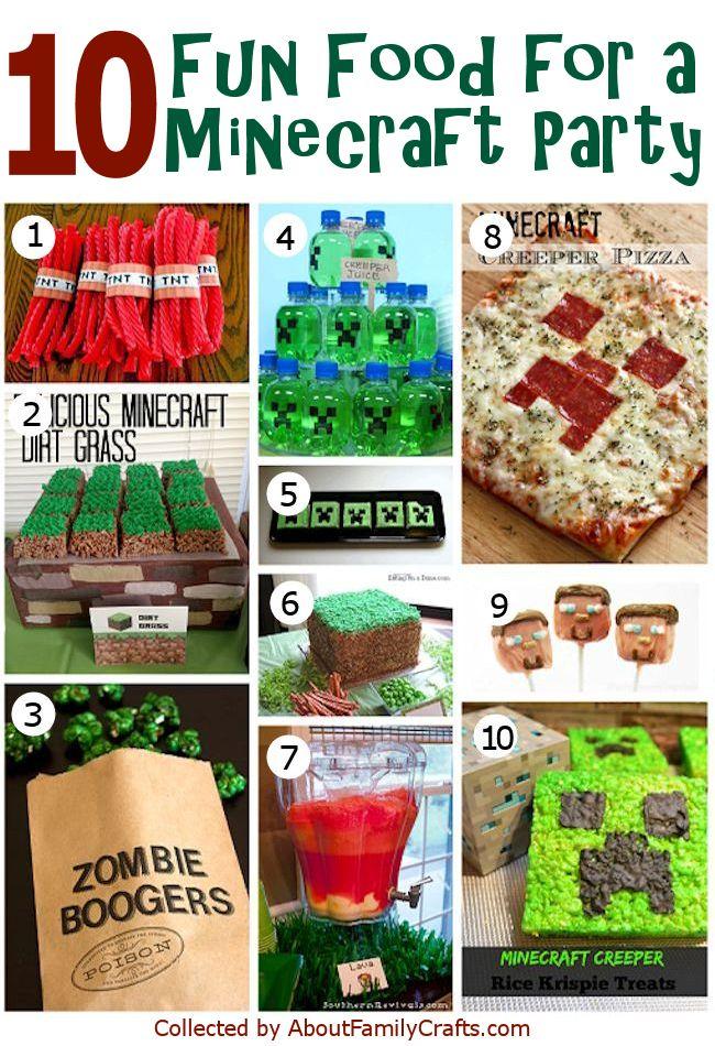50+ DIY Minecraft Birthday Party Ideas \u2013 About Family Crafts
