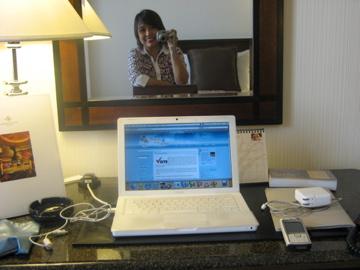 at hotel room