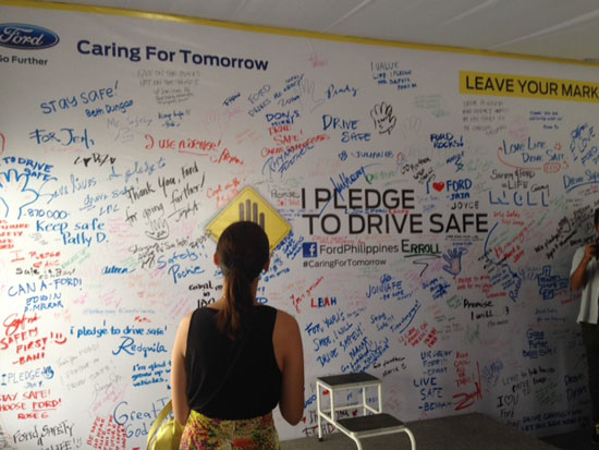 caring for tomorrow pledge to drive safe